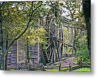Metal Print featuring the photograph Old Wooden Mill by Kim Wilson