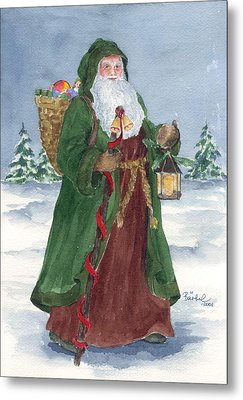 Old World Father Christmas Metal Print