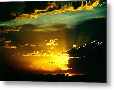 Old World Sunset Metal Print by Shirley Sirois