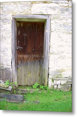 Old Yingling Flour Mill Door Metal Print by Don Struke