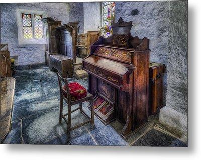Olde Church Organ Metal Print by Ian Mitchell