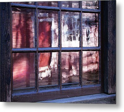 Olde Glass Metal Print by Betsy Zimmerli