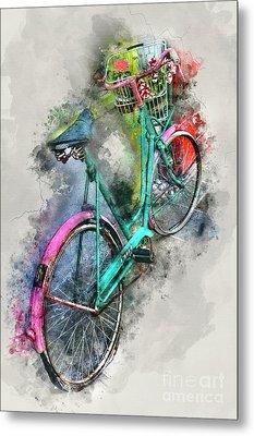 Olde Vintage Bicycle Metal Print