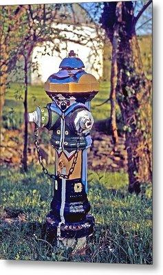 Oldenburg Fireplug Metal Print by Gary Wonning