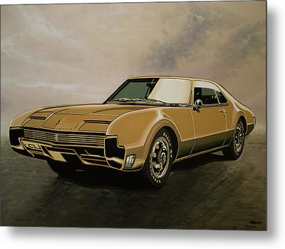 Oldsmobile Toronado 1965 Painting Metal Print by Paul Meijering