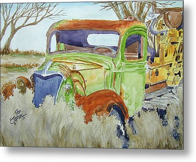 Ole Rusty Green Metal Print by Ron Stephens