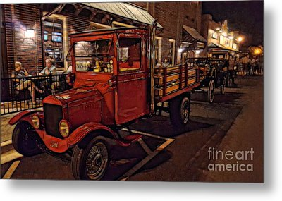 Ole Towne Happenings Metal Print by Mary Lou Chmura