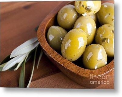 Olive Bowl Metal Print by Jane Rix