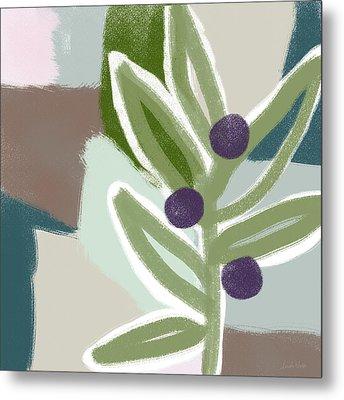 Olive Branch 2- Art By Linda Woods Metal Print