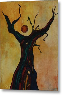 Olive Tree Woman Metal Print by Pat Purdy