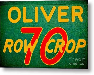 Oliver 70 Row Crop Metal Print