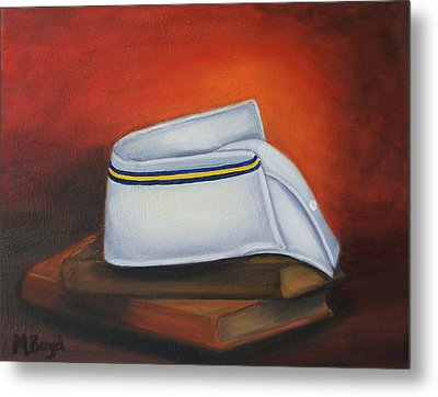 Metal Print featuring the painting Olivet Nazerene University  by Marlyn Boyd