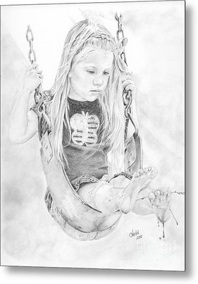 Olivia Metal Print by Shevin Childers