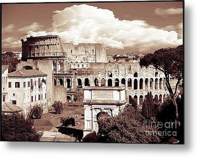Colosseum From Roman Forums  Metal Print by Stefano Senise