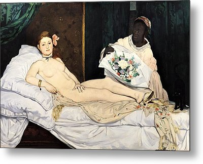 Olympia Metal Print by Edouard Manet