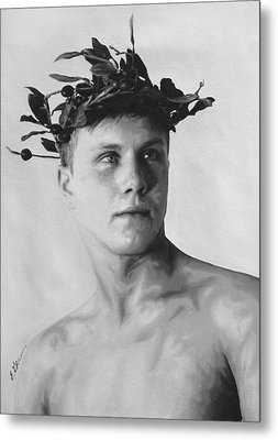 Olympian Corey By Gibbons Metal Print by E Gibbons
