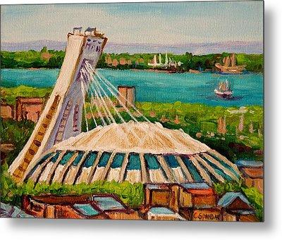 Olympic Stadium  Montreal Metal Print by Carole Spandau