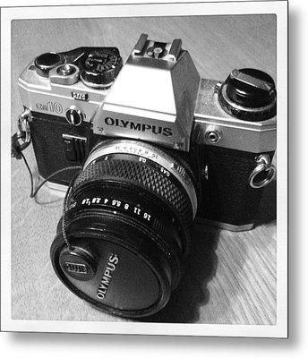 Olympus Om10 Slr Camera Metal Print
