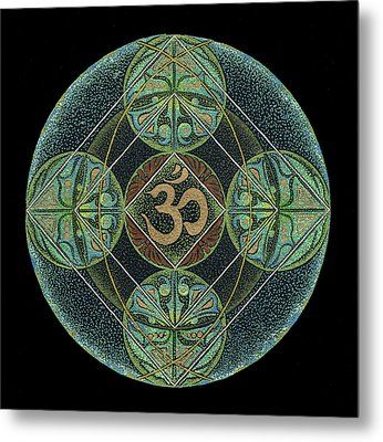 Metal Print featuring the painting Om by Keiko Katsuta
