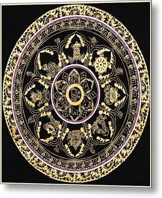 Om Mandala With Astamandala Metal Print