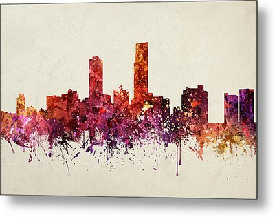 Omaha Cityscape 09 Metal Print by Aged Pixel