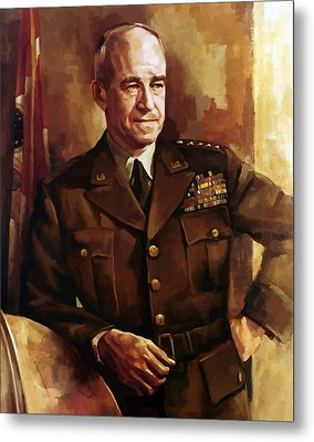 Omar Bradley Metal Print by War Is Hell Store