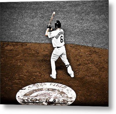 Omar Quintanilla Pro Baseball Player Metal Print by Marilyn Hunt