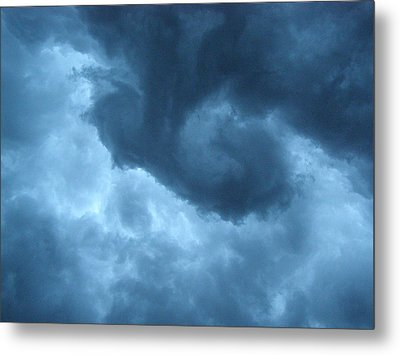 Ominous  Metal Print by Angie Rea