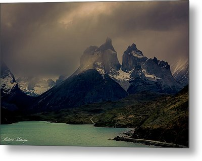 Metal Print featuring the photograph Ominous Peaks by Andrew Matwijec