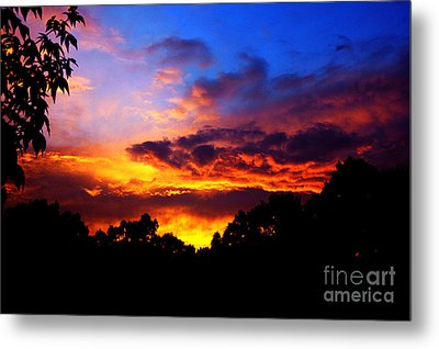 Ominous Sunset Metal Print by Clayton Bruster