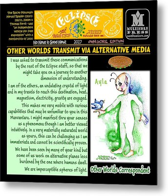 Omniscire Other Worlds Correspondent Metal Print by Dawn Sperry