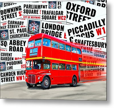 On A Bus For London Metal Print