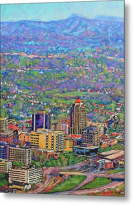 On A Clear Day - A View From Mill Mountain Metal Print