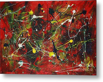 Metal Print featuring the painting On A High Note by Jacqueline Athmann