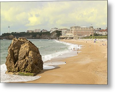 On A Hot Summer Day On A Sandy Beach Metal Print by George Westermak