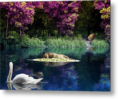 On A Lake Metal Print by Svetlana Sewell