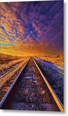 Metal Print featuring the photograph On A Train Bound For Nowhere by Phil Koch