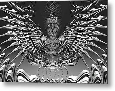 On Alien Wings Metal Print by John Edwards
