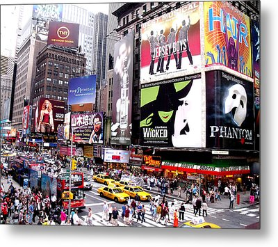 On Broadway New York Metal Print by Rosie Brown