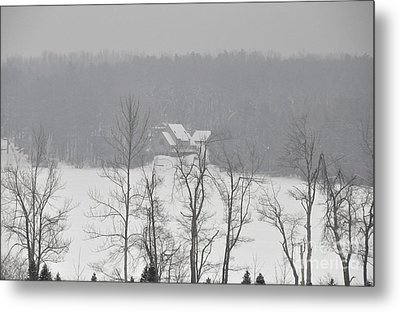 Metal Print featuring the photograph On Demond Pond by John Black