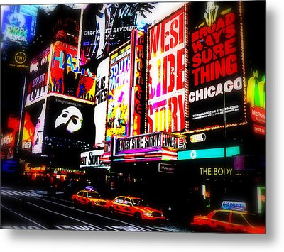 On Funky Broadway  Metal Print by Funkpix Photo Hunter