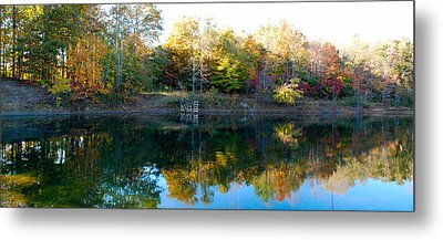 Metal Print featuring the photograph On Gober's Pond by Max Mullins