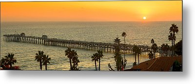 On Golden Pier Metal Print by Gary Zuercher