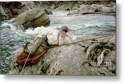 On His Holidays Metal Print by John Singer Sargent