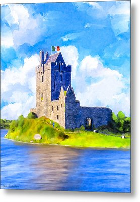 On Irish Shores - Dunguaire Castle Metal Print