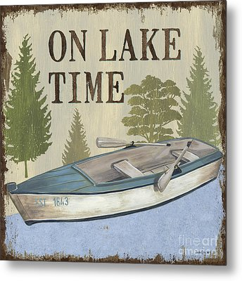 On Lake Time Metal Print