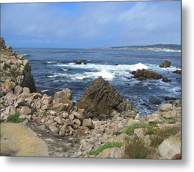 Metal Print featuring the photograph On Monterey Bay Near Pebble Beach by Don Struke
