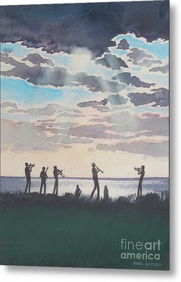 On Shore Jazz Metal Print