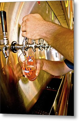 Metal Print featuring the photograph On Tap by Linda Unger