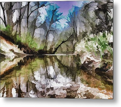On The Bank Metal Print by Tom Druin